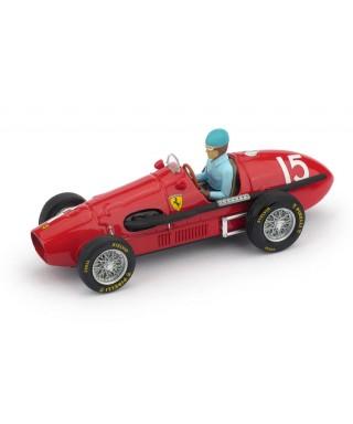 FERRARI 500F2 ALBERTO ASCARI 1952 N.15 WINNER BRITISH GP W/PILOTE 1:43