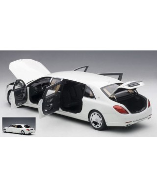 MERCEDES MAYBACH S 600 PULLMAN 2016 WHITE/DARK GREY 1:18