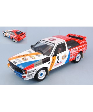 AUDI QUATTRO N.2 2nd HANSRUCK RALLY 1984 DEMUTH-LUX 1:18