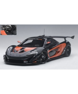 MC LAREN P1 GTR DARK GREY METALLIC/ORANGE 1:18
