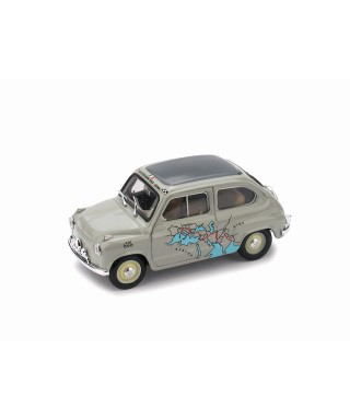FIAT 600 RAID CALCUTTA-ROMA 1955 Km 13260 MARTIGNONI-RABEZZANA 1:43