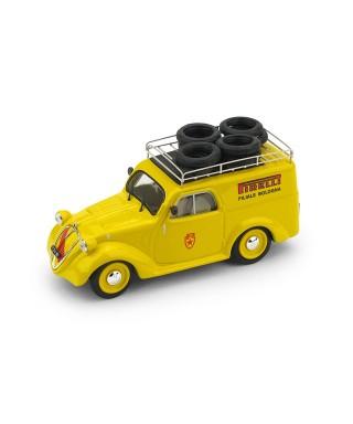 FIAT 500 C FURGONCINO ASSISTENZA PIRELLI 1950 REPRO 1:43