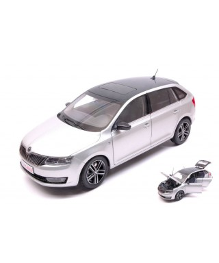 SKODA RAPID SPACEBACK 2013 SILVER METALLIC 1:18