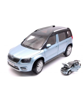 SKODA YETI FL 2013 LIGHT BLUE METALLIC 1:18