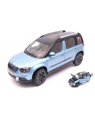 SKODA YETI FL OUTDOOR 2013 LIGHT BLUE METALLIC 1:18