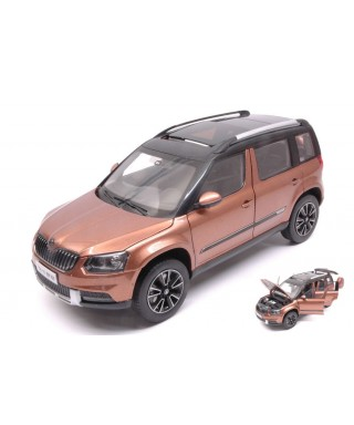 SKODA YETI FL OUTDOOR 2013 BRONZE METALLIC 1:18
