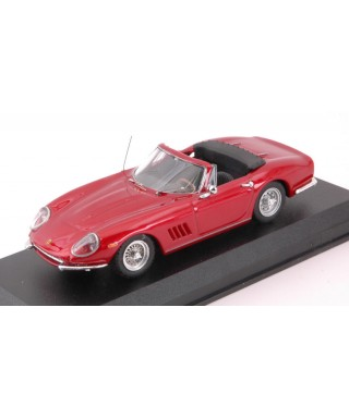 FERRARI 275 GTB SPIDER RED S.MC QUEEN PERSONAL CAR 1:43