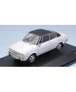 SKODA 110R COUPE1980 WHITE BLACK ROOF 1:43