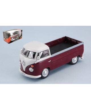 VW T1 PICK UP 1960 AMARANT/WHITE 1:43