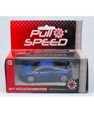 AUDI R8 V10 PLUS BLUE PULL SPEED 1:43