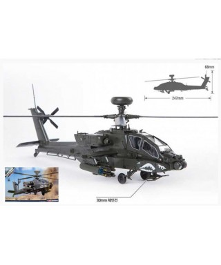 US ARMY AH-64D BLOCK II LATE VERSION KIT 1:72 KIT 1:72