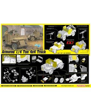 ARMORED 1/4-Ton 4x4 TRUCK W/50-cal MACHINE GUN KIT 1:35