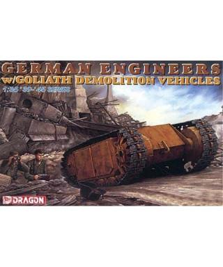 GERMAN ENGINEERS W/GOLIATH DEMOLITION VEHICLES KIT 1:35