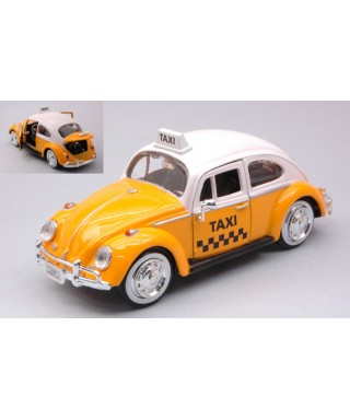 VW BEETLE TAXI YELLOW 1:24