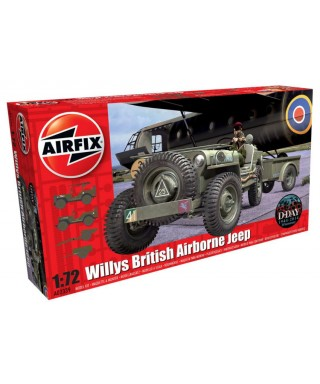 WILLY S JEEP TRAILER & 6PDR GUN KIT 1:72