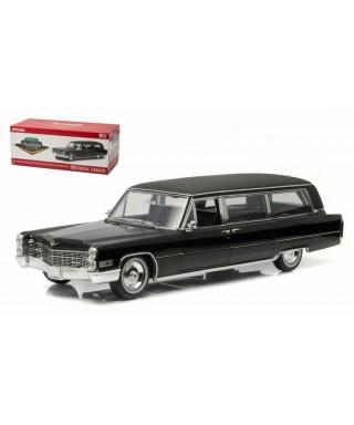 CADILLAC S&S LIMOUSINE 1966 FUNERAL CAR BLACK 1:18