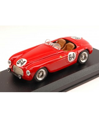 FERRARI 166 MM BARCHETTA N.64 RETIRED LM 1951 R.BOUCHARD-L.FARNAUD 1:43