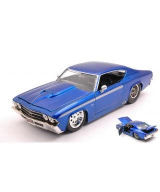 CHEVY CHEVELLE SS 1969 ELECTRIC BLUE 1:24