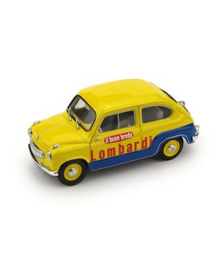 FIAT 600 1.a SERIE VEICOLO COMMERCIALE BRODO LOMBARDI 1:43