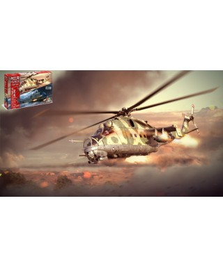 WAR THUNDER MIL MI-24 D -UH 1C (2 IN 1) KIT 1:72