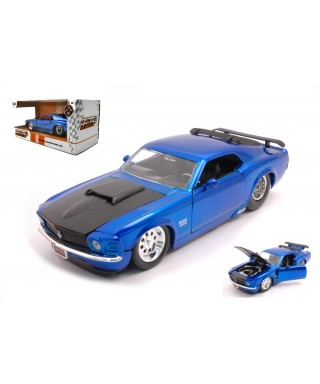 FORD MUSTANG BOSS 429 1970 BLUE 1:24