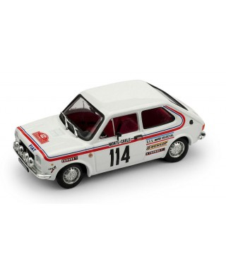 FIAT 127 N.114 ABANDON RALLY MONTE CARLO 1973 DONGUES-SAULIES 1:43
