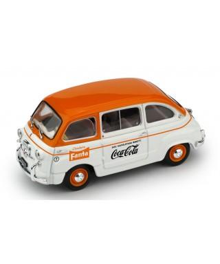 FIAT 600D MULTIPLA COMMERCIALE FANTA/COCA COLA 1961 1:43