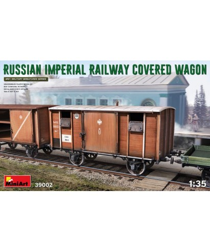RUSSIAN IMPERIAL RAILWAY COWERED WAGON KIT 1:35