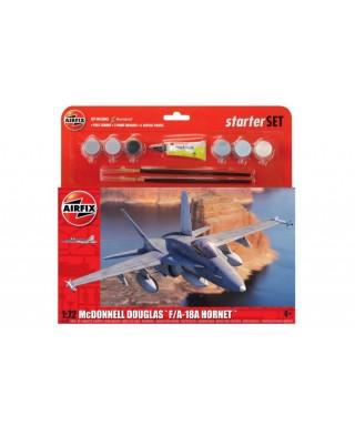 LARGE STARTER SET MCDONNELL DOUGLAS F-18 HORNET KIT 1:72