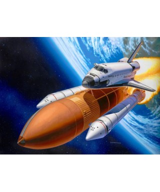 SPACE SHUTTLE DISCOVERY & BOOSTER ROCKETS KIT 1:144