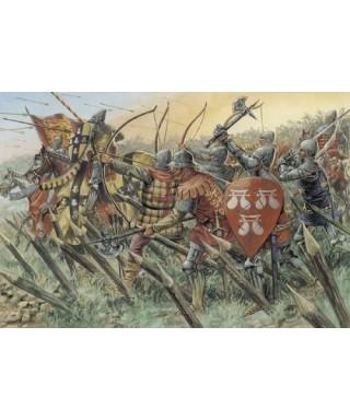 100 YEARS WAR BRITISH WARRIORS KIT 1:72