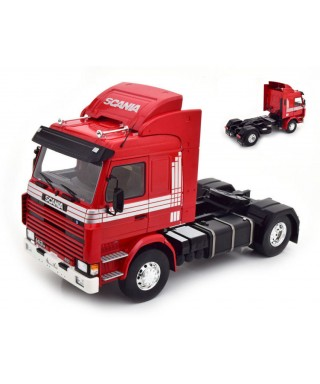 SCANIA 143 TOP LINE RED/SILVER 1:18