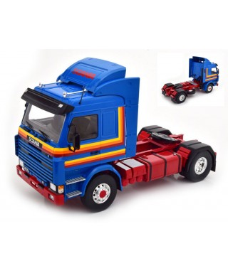 SCANIA 143 TOP LINE BLUE DECORATED 1:18