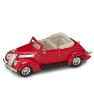 FORD V 8 CONVERTIBLE 1937 RED 1:43