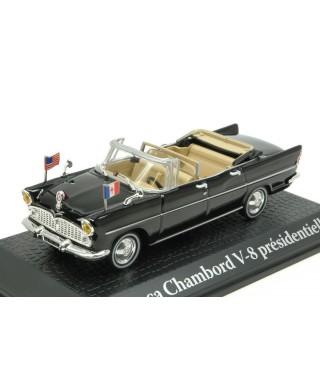 SIMCA CHAMBORD V-8 CHARLES DE GAULLE-J.F.KENNEDY 1961 1:43
