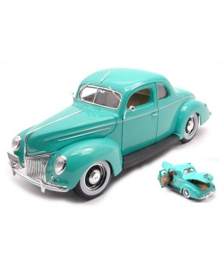 FORD DELUXE COUPE 1939 TURQUOISE 1:18