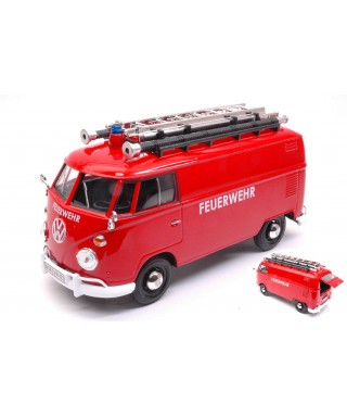VW TYPE 2 (T1) DELIVERY VAN FEUERWEHR W/LADDER ON THE ROOF 1:24
