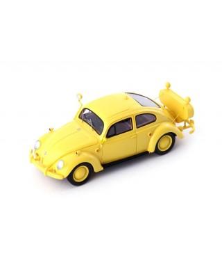 """VW KAFER """"FOLLOW ME"""" BERLIN-TEMPELHOF 1954 YELLOW 1:43"""