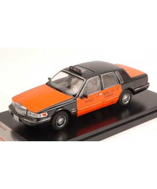 LINCOLN TOWN CAR 1996 USA TAXI ORANGE/BLACK 1:43